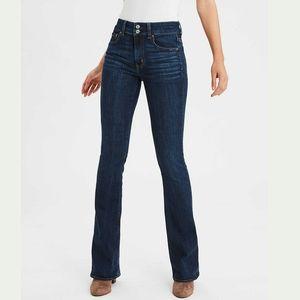 American Eagle Hi-Rise Artist Flare Jeans Denim 16
